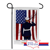 Garden Flag (Made in USA): SemperToons - For Country