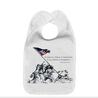 Baby Bib: SemperToons - Iwo Jima Wolf Quote