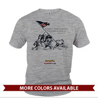 _T-Shirt (Unisex): SemperToons - Iwo Jima Wolf Quote