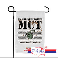 Garden Flag (Made in USA): SemperToons - Survived MCT