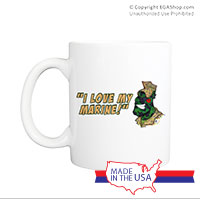Mug (Made in USA): SemperToons - Love My Marine