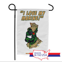 Garden Flag (Made in USA): SemperToons - Love My Marine