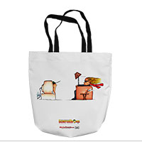 Tote Bag: SemperToons - TV (16x16)