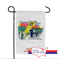 Garden Flag (Made in USA): SemperToons - Mr. President