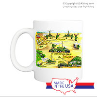Mug (Made in USA): SemperToons - Battery in the Field
