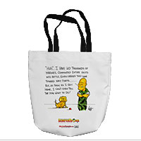 Tote Bag: SemperToons - Dog What to Do (16x16)