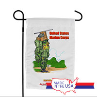 Garden Flag (Made in USA): SemperToons - USMC