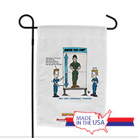 Garden Flag (Made in USA): SemperToons - Pain Chart