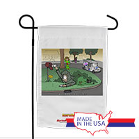 Garden Flag (Made in USA): SemperToons - Mailman