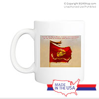 Mug (Made in USA): SemperToons -  Let Our Flag Fly
