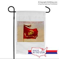 Garden Flag (Made in USA): SemperToons - Let Our Flag Fly