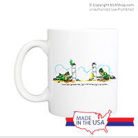 Mug (Made in USA): SemperToons - I Got You First!