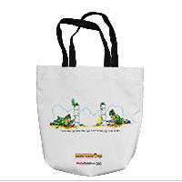 Tote Bag: SemperToons - Got You First (16x16)