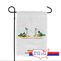 Garden Flag (Made in USA): SemperToons - I Got You First!