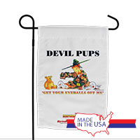 Garden Flag (Made in USA): SemperToons -Devil Pups