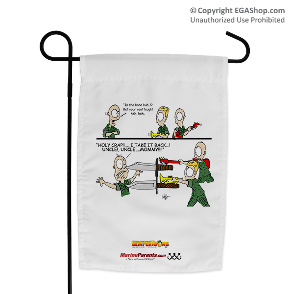 Garden Flag (Made in USA): SemperToons -In the Band