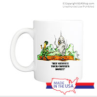 Mug (Made in USA): SemperToons - Coffee's Done!