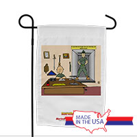 Garden Flag (Made in USA): SemperToons -Break Glass