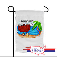 Garden Flag (Made in USA): SemperToons -Ark