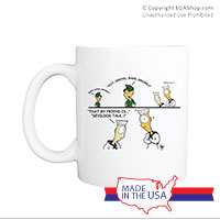 Mug (Made in USA): SemperToons - Devil Dog Talk