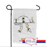 Garden Flag (Made in USA): SemperToons -Devil Dog Talk