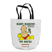 Tote Bag: SemperToons - Baby Marine (16x16)