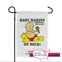 Garden Flag (Made in USA): SemperToons -Baby Marine