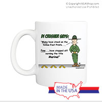 Mug (Made in USA): SemperToons - DI Yellow Footprints