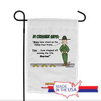 Garden Flag (Made in USA): SemperToons -DI Yellow Footprints