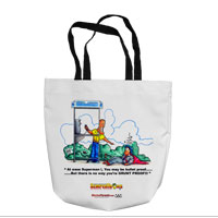 Tote Bag: SemperToons - Superman (16x16)