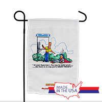 Garden Flag (Made in USA): SemperToons -Superman