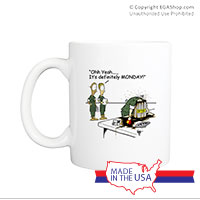 Mug (Made in USA): SemperToons - Monday