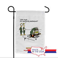 Garden Flag (Made in USA): SemperToons -Monday