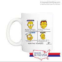 Mug (Made in USA): SemperToons - Recruiting Techniques