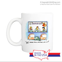 Mug (Made in USA): SemperToons - Born into it