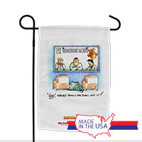 Garden Flag (Made in USA): SemperToons -Born into it