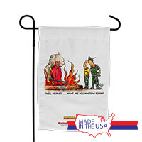 Garden Flag (Made in USA): SemperToons -Recruit, What You Waiting For?