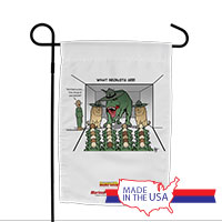 Garden Flag (Made in USA): SemperToons -What Recruits See
