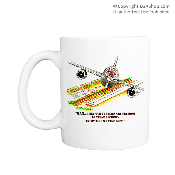 Mug (Made in USA): SemperToons -  Turbines Cry Freedom