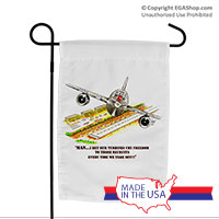 Garden Flag (Made in USA): SemperToons - Turbines Cry Freedom