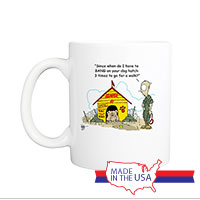 Mug (Made in USA): SemperToons -  Dog Hatch