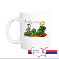 Mug (Made in USA): SemperToons -  Helmet Hair