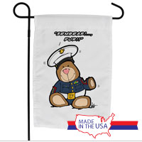 Garden Flag (Made in USA): SemperToons - Sembear Fur!