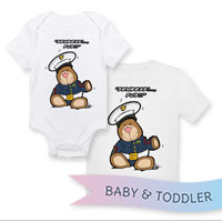 _T-Shirt/Onesie (Toddler/Baby): SemperToons - Sembear Fur!