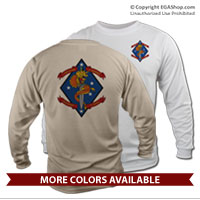 _Long Sleeve Shirt (Unisex): 1/4 Marines