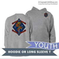 _Youth Hoodie or Long Sleeve Shirt: 1/4 Marines