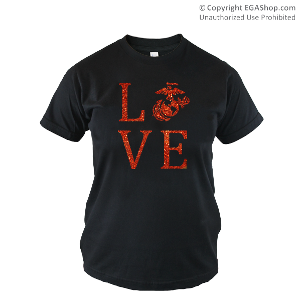 _T-Shirt (Cotton): Love w/ EGA