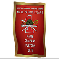 Rally Towel: 1st Recruit Btn, Parris Island (Customized)