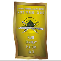 Rally Towel: 2nd Recruit Btn, Parris Island (Customized)