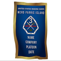 Rally Towel: 3rd Recruit Btn, Parris Island (Customized)